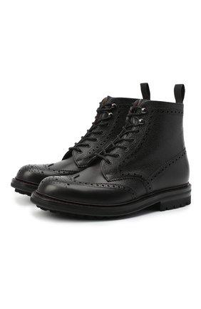 Мужские кожаные ботинки CHURCH'S черного цвета, арт. ETC208/9FQ | Фото 1