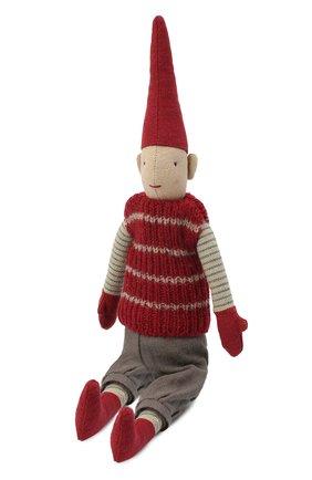 Детского игрушка гном пикси мини MAILEG красного цвета, арт. 14-0420-00   Фото 1