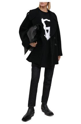 Женская хлопковая футболка VETEMENTS черного цвета, арт. UE51TR640B 1600/W | Фото 2