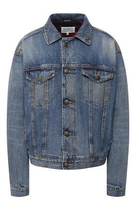 Женская джинсовая куртка MAISON MARGIELA синего цвета, арт. S51AM0421/S30617   Фото 1