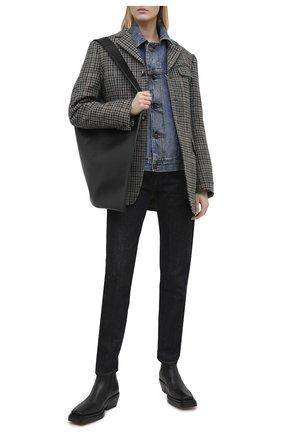 Женская джинсовая куртка MAISON MARGIELA синего цвета, арт. S51AM0421/S30617   Фото 2
