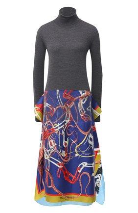 Женское шерстяное платье MAISON MARGIELA серого цвета, арт. S29CT0996/S17583 | Фото 1