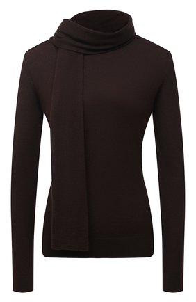 Женский кашемировый пуловер RALPH LAUREN коричневого цвета, арт. 290823275   Фото 1