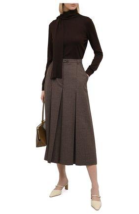 Женский кашемировый пуловер RALPH LAUREN коричневого цвета, арт. 290823275   Фото 2