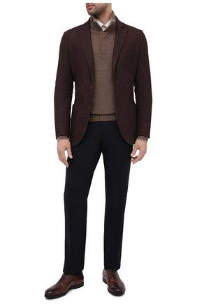 Мужские кожаные оксфорды SANTONI коричневого цвета, арт. MGNP17286SM0ICLBS52   Фото 2