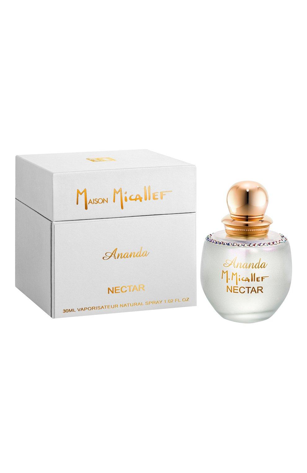 Духи ananda nectar (30ml) M. MICALLEF бесцветного цвета, арт. 3760231058191 | Фото 1 (Ограничения доставки: flammable)