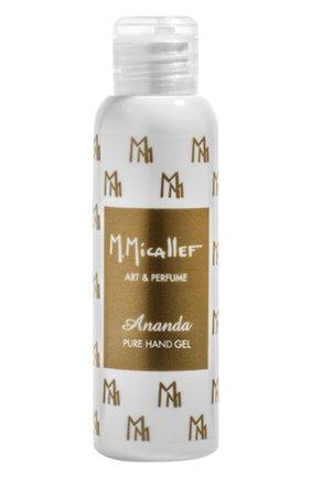 Очищающий парфюмированный гель для рук ananda M. MICALLEF бесцветного цвета, арт. 3760231059822   Фото 1