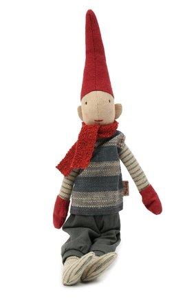 Детского игрушка гном пикси с магнитом MAILEG красного цвета, арт. 14-0410-00   Фото 1