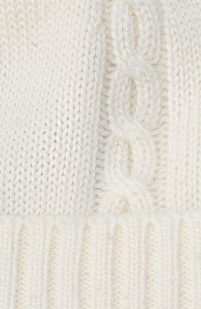 Детского кашемировая шапка LORO PIANA белого цвета, арт. FAL4430 | Фото 3 (Материал: Кашемир, Шерсть)