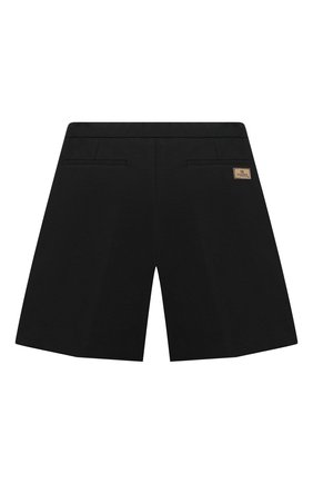 Детские хлопковые шорты FENDI черного цвета, арт. JMF311/A6IK/8A-12+   Фото 2