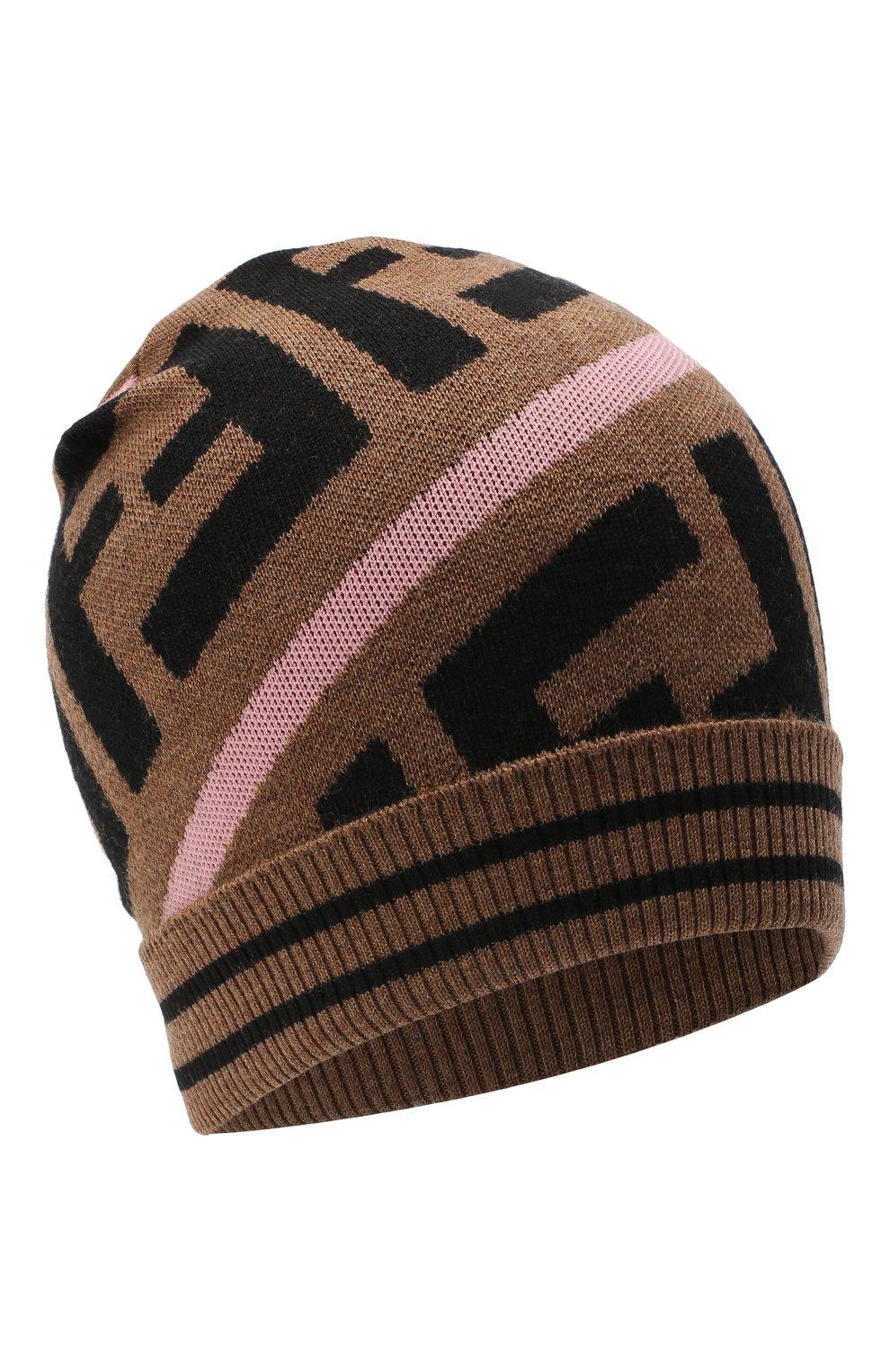 Детского шерстяная шапка FENDI розового цвета, арт. JUP012/A2M4   Фото 1 (Материал: Шерсть)