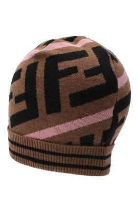 Детского шерстяная шапка FENDI розового цвета, арт. JUP012/A2M4 | Фото 2