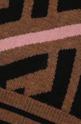 Детского шерстяная шапка FENDI розового цвета, арт. JUP012/A2M4   Фото 3 (Материал: Шерсть)