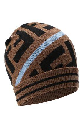 Детского шерстяная шапка FENDI голубого цвета, арт. JUP012/A2M4 | Фото 1