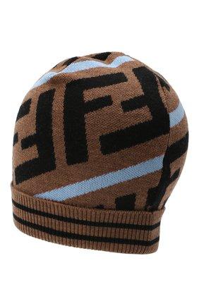 Детского шерстяная шапка FENDI голубого цвета, арт. JUP012/A2M4 | Фото 2