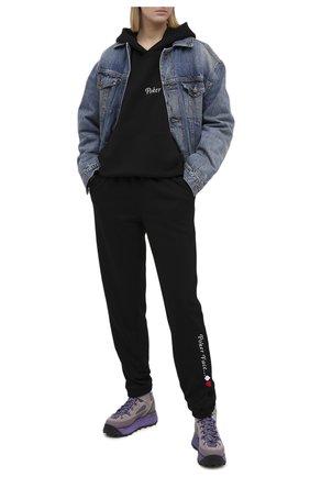 Женский хлопковый костюм SEVEN LAB черного цвета, арт. HP20-PF black | Фото 1