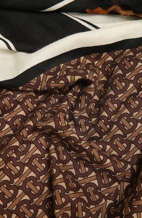 Женский кашемироый платок BURBERRY коричневого цвета, арт. 8035101 | Фото 2