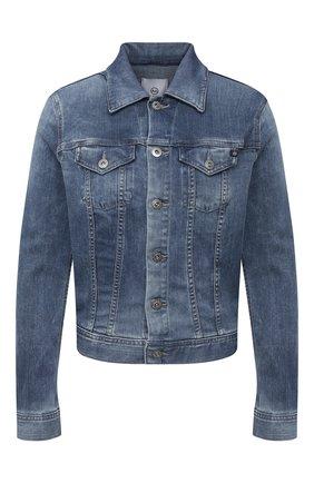Женская джинсовая куртка AG синего цвета, арт. SPD4087/SRM/MX | Фото 1