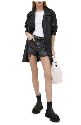 Женские джинсовые шорты MOUSSY темно-серого цвета, арт. 025DAC11-2341 | Фото 2