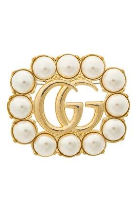 Женская брошь GUCCI золотого цвета, арт. 629616/I5258   Фото 1