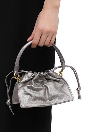 Женская сумка YUZEFI серебряного цвета, арт. YUZAW20-HB-MB-04   Фото 2