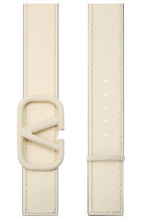 Женский кожаный ремень  VALENTINO белого цвета, арт. UW0T0S10/HEW | Фото 2 (Материал: Кожа)