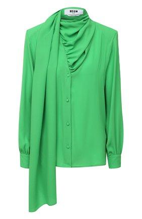 Женская блузка MSGM зеленого цвета, арт. 2942MDM104 207820 | Фото 1