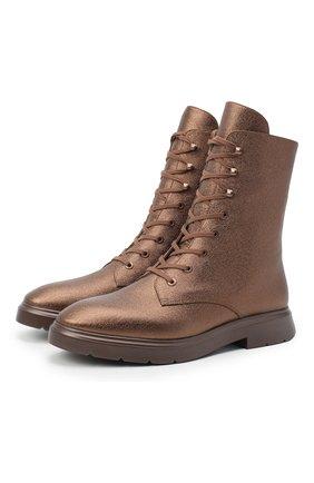 Женские кожаные ботинки STUART WEITZMAN бронзового цвета, арт. S0232 | Фото 1