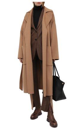 Женские кожаные ботинки STUART WEITZMAN бронзового цвета, арт. S0232 | Фото 2