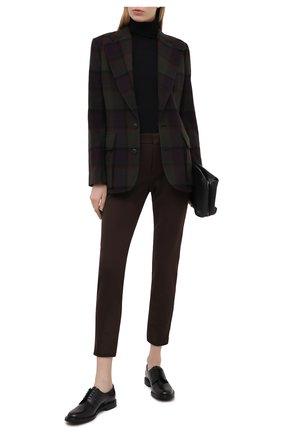Женская кожаные оксфорды CHURCH'S черного цвета, арт. DE0075/9SN   Фото 2