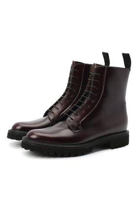 Женские кожаные ботинки CHURCH'S бордового цвета, арт. DT0180/9SN | Фото 1
