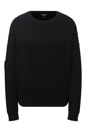 Женская свитшот MONROW черного цвета, арт. HT0890 | Фото 1
