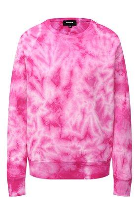 Женская хлопковый свитшот MONROW розового цвета, арт. HT0804-22 | Фото 1