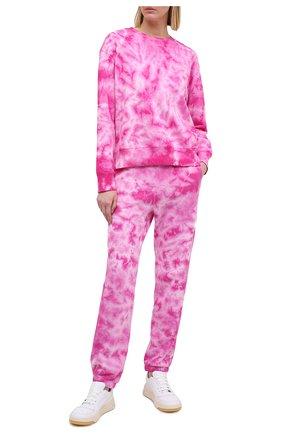 Женская хлопковый свитшот MONROW розового цвета, арт. HT0804-22 | Фото 2