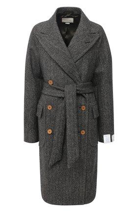 Женское шерстяное пальто GUCCI серого цвета, арт. 637043/ZAFIX | Фото 1