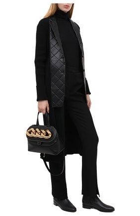 Женские кожаные полусапоги DOLCE & GABBANA черного цвета, арт. CT0679/AW695 | Фото 2