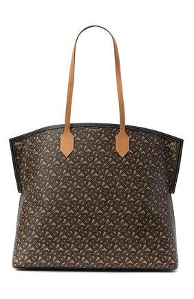 Женский сумка-шопер BURBERRY коричневого цвета, арт. 8032165 | Фото 1