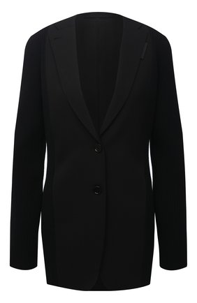 Женский шерстяной жакет BURBERRY черного цвета, арт. 4567074 | Фото 1