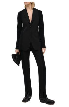 Женский шерстяной жакет BURBERRY черного цвета, арт. 4567074 | Фото 2