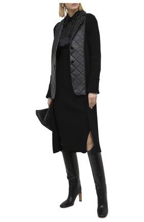 Женский шерстяной жакет BURBERRY черного цвета, арт. 4566695 | Фото 2