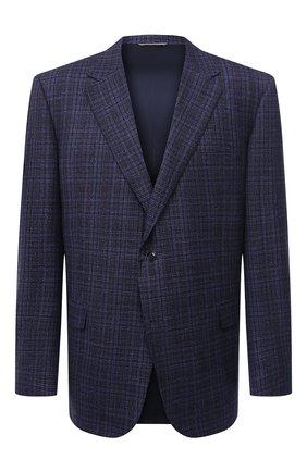 Мужской шерстяной пиджак CANALI синего цвета, арт. 11280/CF02895/112/60-64 | Фото 1