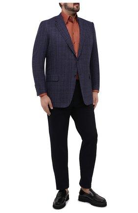 Мужской шерстяной пиджак CANALI синего цвета, арт. 11280/CF02895/112/60-64 | Фото 2