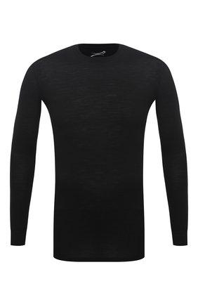 Мужская лонгслив из шерсти и шелка NORVEG черного цвета, арт. 19WSM1RL-002 | Фото 1