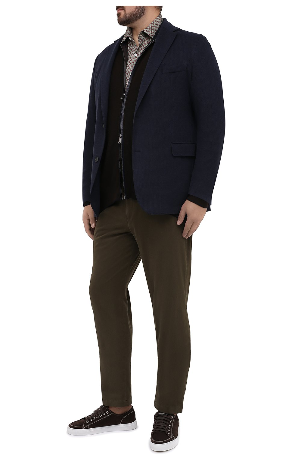 Мужская хлопковая рубашка SONRISA зеленого цвета, арт. IFJ15/J813/47-51 | Фото 2 (Big sizes: Big Sizes; Рукава: Длинные; Рубашки М: Regular Fit; Случай: Повседневный; Длина (для топов): Стандартные; Материал внешний: Хлопок; Стили: Кэжуэл)