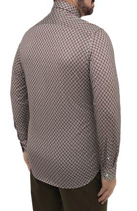 Мужская хлопковая рубашка SONRISA зеленого цвета, арт. IFJ15/J813/47-51 | Фото 4 (Big sizes: Big Sizes; Рукава: Длинные; Рубашки М: Regular Fit; Случай: Повседневный; Длина (для топов): Стандартные; Материал внешний: Хлопок; Стили: Кэжуэл)