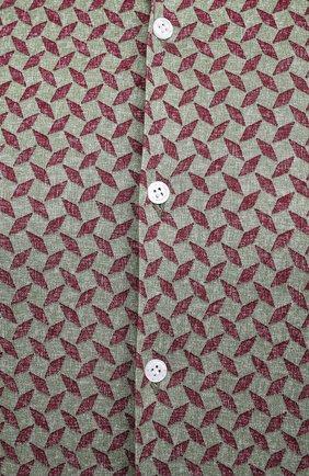 Мужская хлопковая рубашка SONRISA зеленого цвета, арт. IFJ15/J813/47-51 | Фото 5 (Big sizes: Big Sizes; Рукава: Длинные; Рубашки М: Regular Fit; Случай: Повседневный; Длина (для топов): Стандартные; Материал внешний: Хлопок; Стили: Кэжуэл)