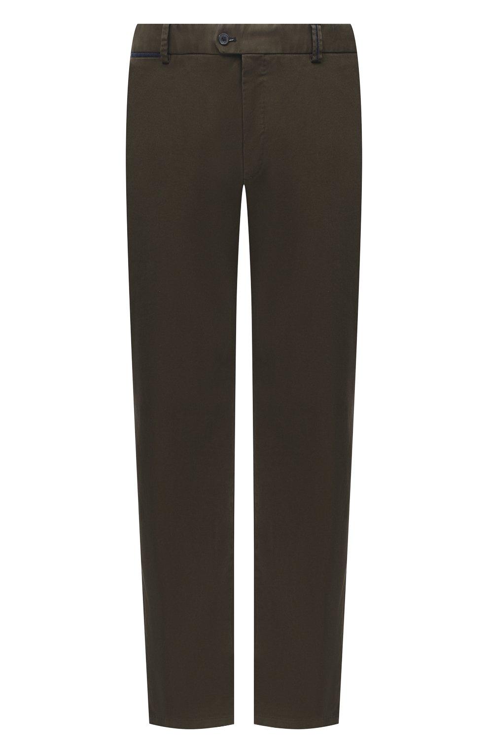 Мужские хлопковые брюки HILTL зеленого цвета, арт. 72514/60-70 | Фото 1