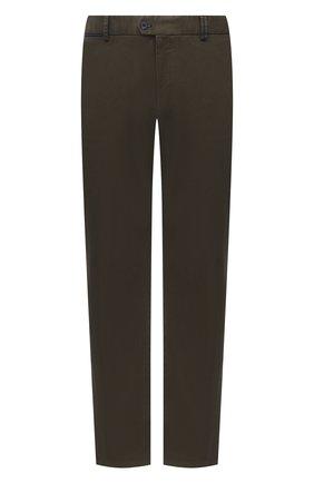 Мужской хлопковые брюки HILTL зеленого цвета, арт. 72514/60-70 | Фото 1
