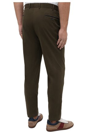 Мужские хлопковые брюки HILTL зеленого цвета, арт. 72514/60-70 | Фото 4