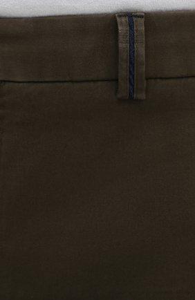 Мужские хлопковые брюки HILTL зеленого цвета, арт. 72514/60-70 | Фото 5
